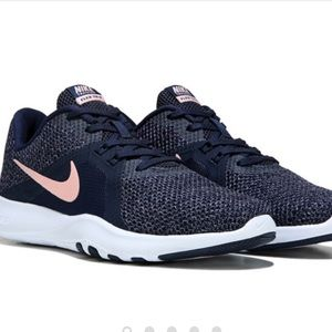 Navy Blue and Pink Nike's (used 1 x)